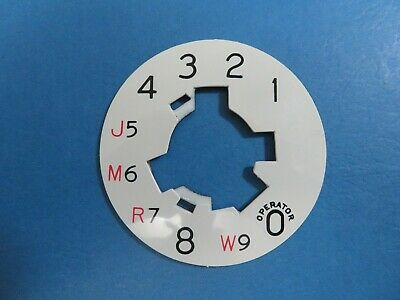 Western Electric telephone #2 dial plate notchless laminate