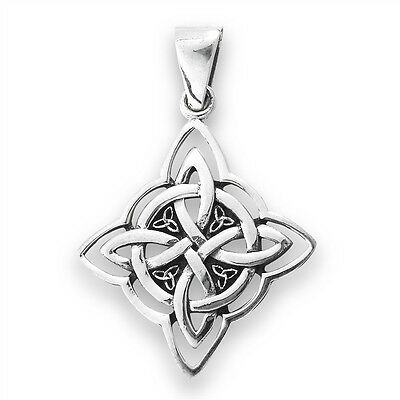 Sterling Silver Celtic KNOT Pendant Charm Jewelry 925 Stamped Style