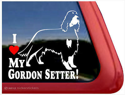 I Love My Gordon Setter! ~ High Quality Vinyl Dog Window Decal Sticker