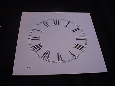 "Vintage Replacement 5"" Ivory and Black Paper Roman Numeral Clock Dial ZZ36"