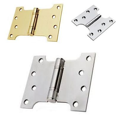 "In 3 sizes 4"",5"",6"" Parliament Door Hinges Wide Throw Full Swing Back Hinge"