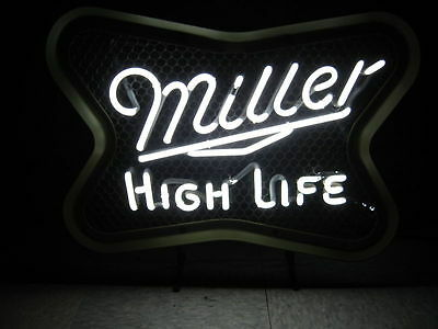 Miller High Life Neon sign Beer Bar Light Game room Man Cave lite mgd Custom