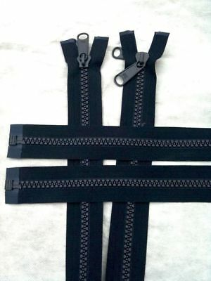 Open  End Zip Heavy Duty N10,30cm to 400cm,Reversible & Double Pully,Marine use