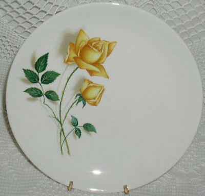 """Simplicity Canonsburg Temptation Dinner Plate 9-7/8"""" Yellow Rose Roses"""