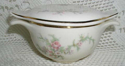 Taylor Smith Taylor Versatile Sugar with Lid Pink Gray Flower Flowers Floral