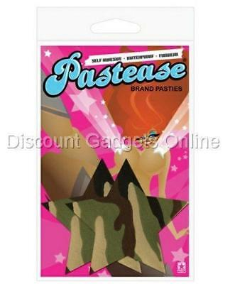 Pastease Pasties Self-Adhesive REUSEABLE Nipple WATERPROOF Tassels - Camo Star