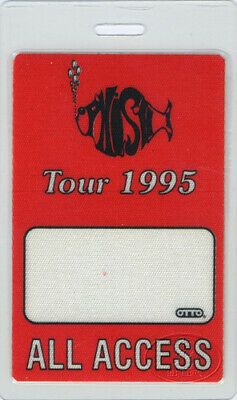 PHISH 1995 LAMINATED BACKSTAGE PASS ALL ACCESS red