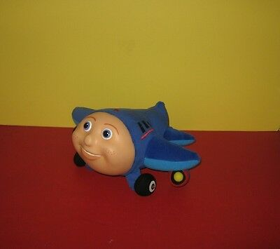 "1999 Jay Jay the Jet Plane Plush Airplane Kidpower 10"" W/ Rubber Face"