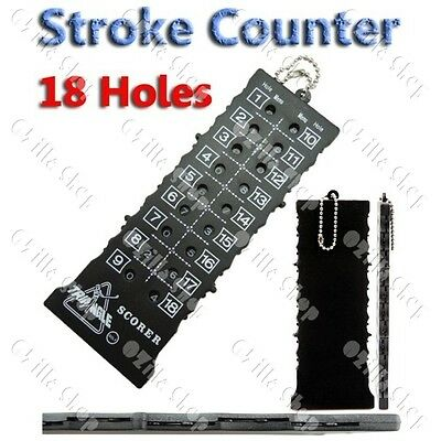 18 Holes golf Stroke Shot Put Score Counter Keeper w Keychain B