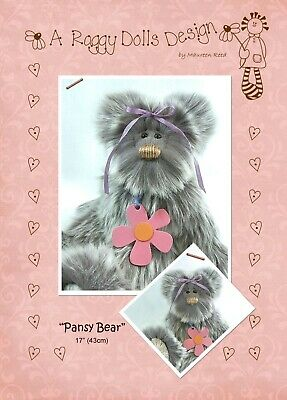 PANSY BEAR - Sewing Craft PATTERN - Artist Bear Pattern