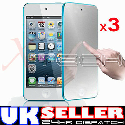 3x MIRROR Reflective LCD Screen Protector Guards for Apple iPod Touch 5 5th Gen