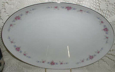 """Coventry China Floral Lace Oval Platter Serving Plate 14-1/4"""""""