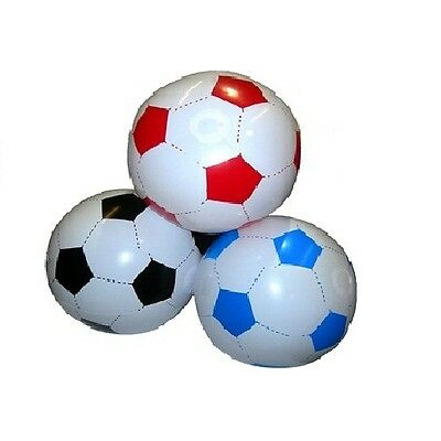 Inflatable/ blow up football - beach ball - black/red/blue - approx 16 inches
