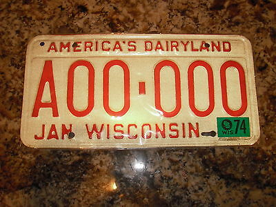 1974 Wisconsin Sample License Plate