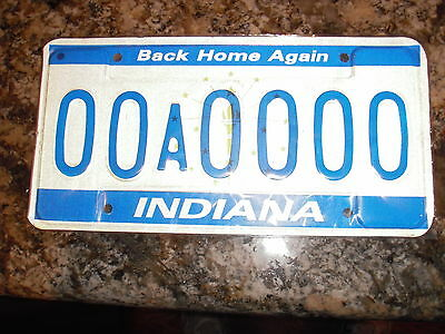 Indiana Sample License Plate 00A
