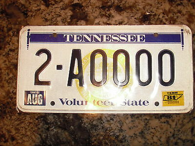 1981 Tennessee Sample License Plate