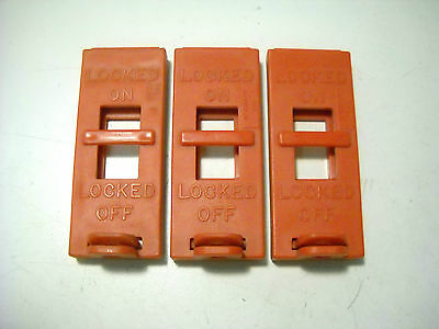 Lot of 3 New Wall Switch Lockouts