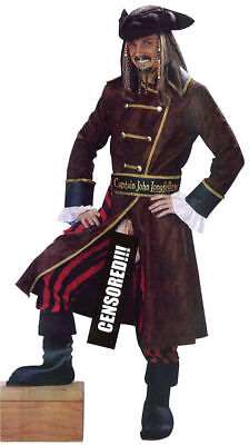 Deluxe Captain John Longfellow Rude Pirate Fancy Dress Stag Night Costume Outfit