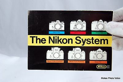 Nikon Camera System system brochure booklet Guide Accessory F2 F2S F2SB F2AS