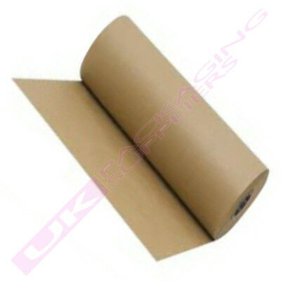 NEW STRONG KRAFT BROWN PACKING PAPER ROLLS 500mm WIDE *SELECT QTY+LENGTH*