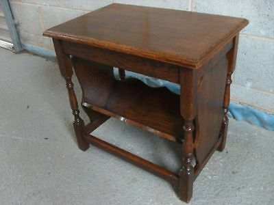 Unusual solid Oak rectangular bookcase occasional reading table