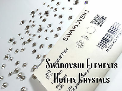 Genuine Swarovski Crystals Foiled Flat-Back Hot Fix 2038/ 2078 UK