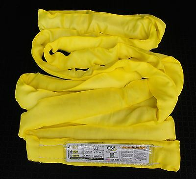 CinchRite Round Sling 12Ft Yellow Polyester Endless Round Sling 8,400lb Vertical Load Limit Roundsling - FREE SHIPPING