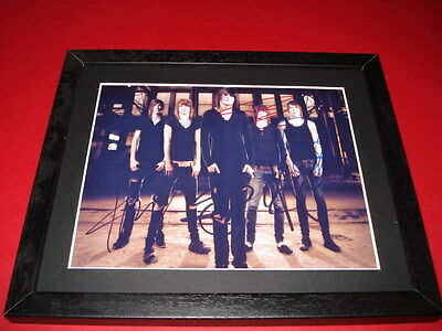 ASKING ALEXANDRIA BAND SIGNED 10X8 MOUNTED AND FRAMED PP REPRO PHOTO ben bruce