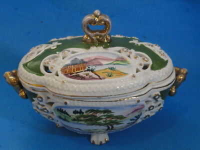 Hand Painted Tureen Made In Japan * Vintage