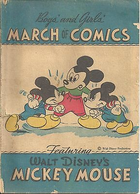 MARCH OF COMICS 8 MICKEY MOUSE RARE GIVEAWAY PROMO 1947 PROMOTIONAL G-