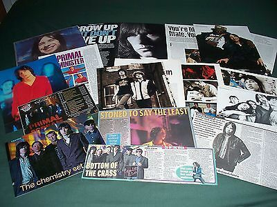 Primal Scream  -  Music/ Celebrity  - Clippings - Cuttings Pack