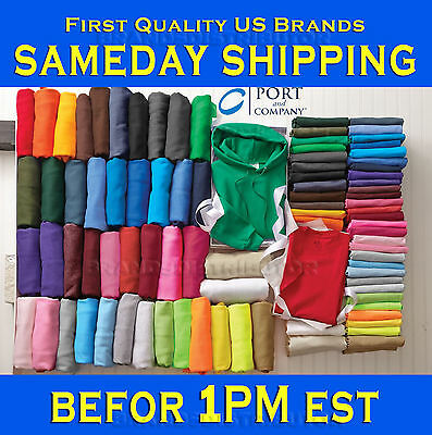 50 Port & Company PC54 Plain Colors Blank T-Shirt  S-XL Lot Wholesale Bulk mix