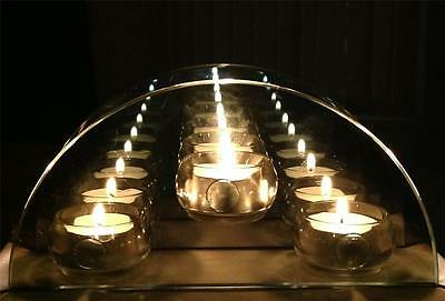 Infinity Glass TeaLight Candle Holder Reflective Tea Light Candle Holder