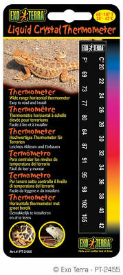 Exo Terra Liquid Crystal Thermometer Horizontal Reptile Strip Terrarium Pt-2455