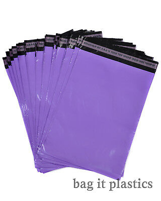Metalic Purple Mailing Bags Postal Sacks Plastic Envelopes Self Seal Post Bag