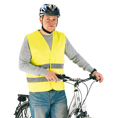 High Visibility Cycling Reflective Vest Gilet Large Hi Vis Cycle Bike Riding