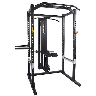 POWERTEC Power Rack System Squat Rack Cage Home Gym Fitness