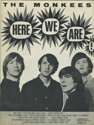 MONKEES 1967 HERE WE ARE Special Edition 16 Magazine