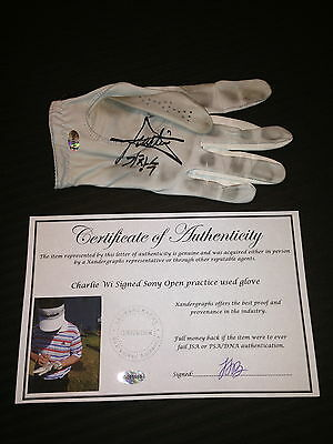 Charlie Wi Game Used Signed Autographed Pga Footjoy Golf Glove-Coa-Exact Proof