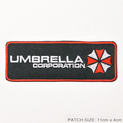 RESIDENT EVIL Umbrella Corporation LARGE MOVIE PATCH - Embroidered Iron-On Patch