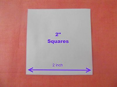 100 Square Templates For Patchwork ~Paper~Perfect For Quilting ~ All Sizes.