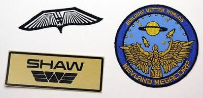 PROMETHEUS Crew Wings, Weyland & Custom Name Tag Patch Set ALIEN / ALIENS