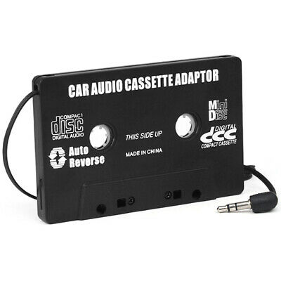 Black Cassette Tape Adapter 3.5mm Jack for MP3 iPod iPhone Stereo - By DIGIFLEX
