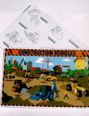 Construction Vehicles Placemat Engineering
