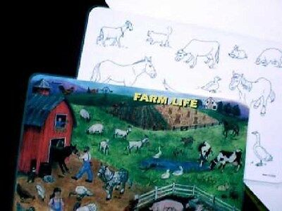 Farm Life Activity Placemat