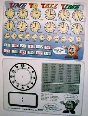 Tell Time Activity Educational Placemat
