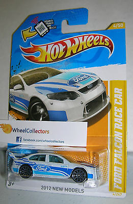 Ford Falcon Race Car WHITE #4 * NEW MODELS Card * 2012 Hot Wheels * C11
