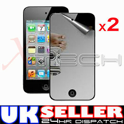 2 x MIRROR Reflective LCD Screen Protector Guards for Apple iPod Touch 4 4th Gen