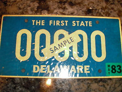 1983 Delaware Sample License Plate