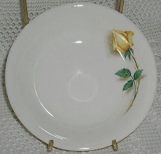 "Simplicity Canonsburg Temptation Fruit Berry Bowl 5-1/2"" Yellow Rose Roses"
